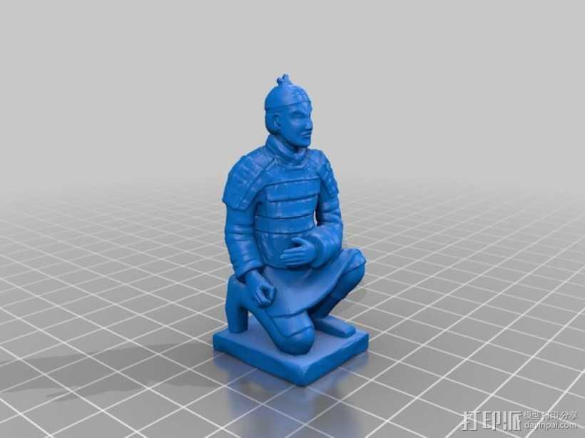 兵马俑 3D打印模型渲染图