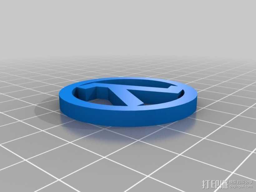 Lambda兰母达硬币徽章 3D打印模型渲染图