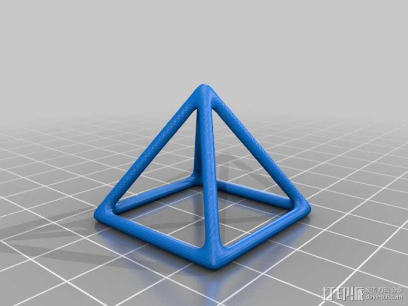 线框椎体 3D打印模型渲染图
