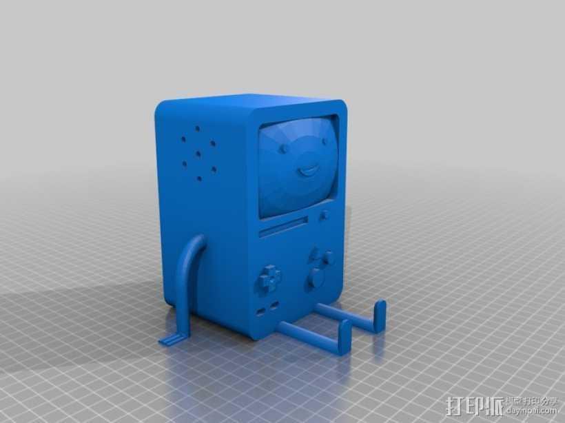BMO游戏机 3D打印模型渲染图