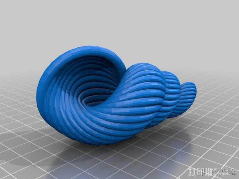 贝壳 螺 3D打印模型渲染图