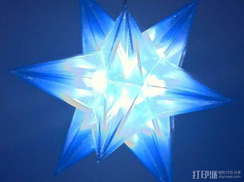 十二面体圣诞之星 3D打印模型渲染图