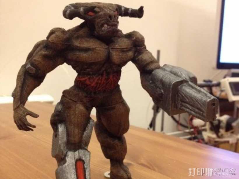 牛魔王雕塑 3D打印模型渲染图