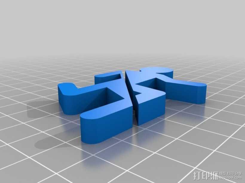 传送门冰箱贴 3D打印模型渲染图