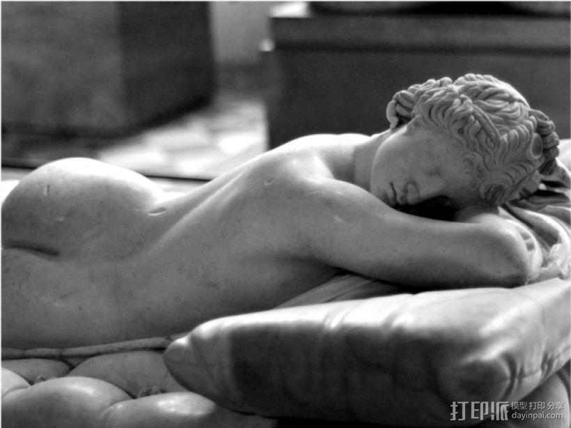 赫马佛洛狄忒斯雕像 3D打印模型渲染图