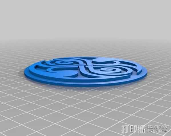 时间领主标志 3D打印模型渲染图