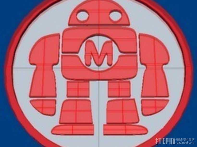 机器人纪念币 3D打印模型渲染图