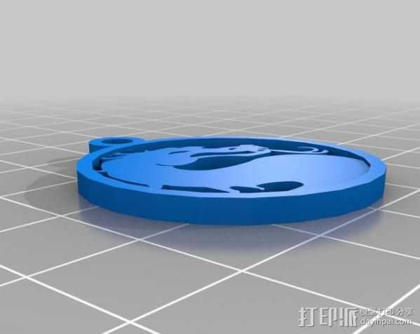格斗之王 项链坠 3D打印模型渲染图