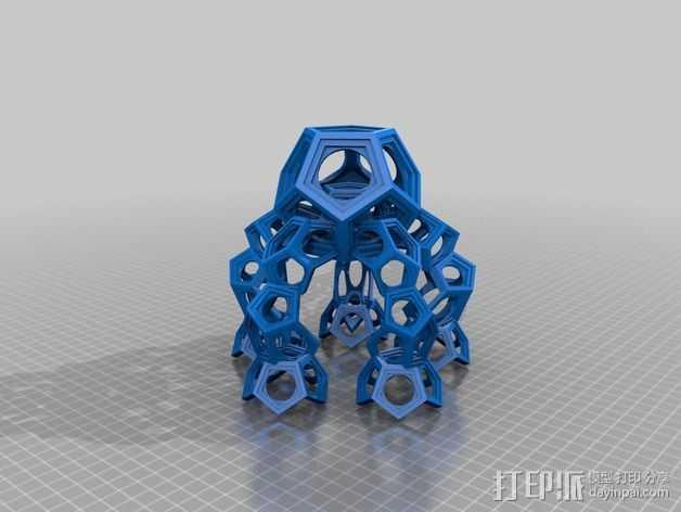 十二烷模型 3D打印模型渲染图