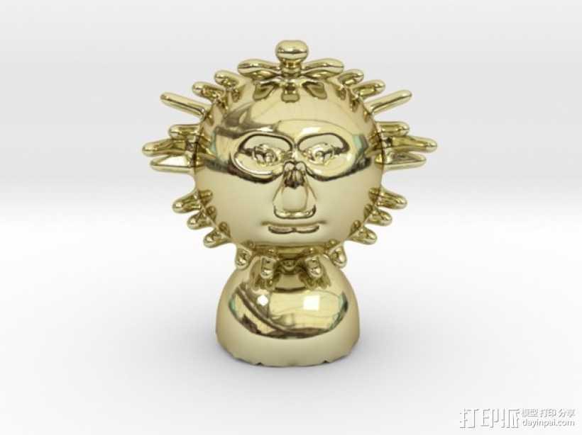 Mr Sun aka模型 3D打印模型渲染图