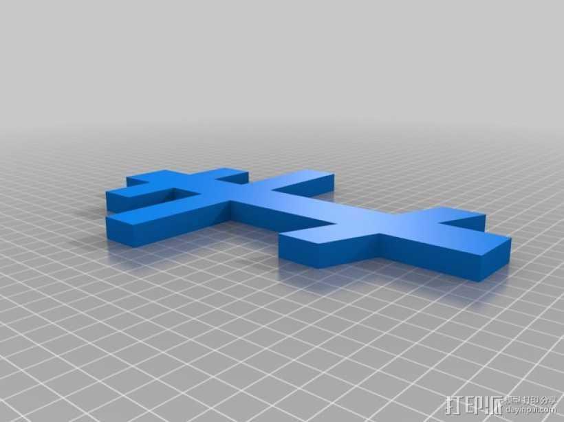 俄罗斯东正教十字架 3D打印模型渲染图