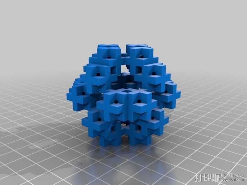 不规则几何体 3D打印模型渲染图
