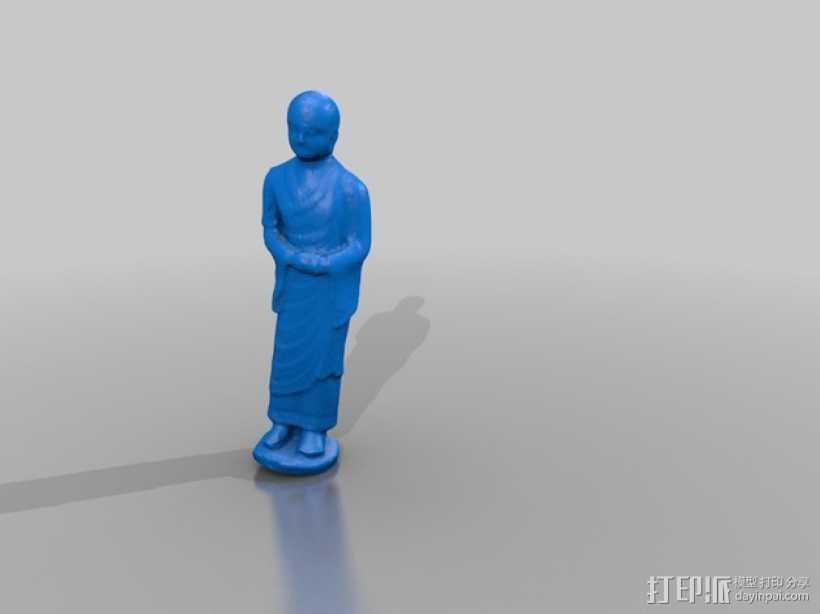 小和尚阿南达雕塑 3D打印模型渲染图