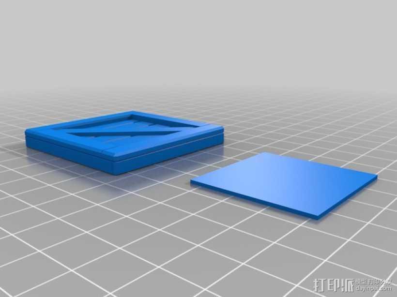 板条箱  3D打印模型渲染图