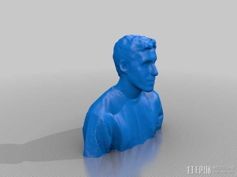 阿历克斯半身像模型 3D打印模型渲染图