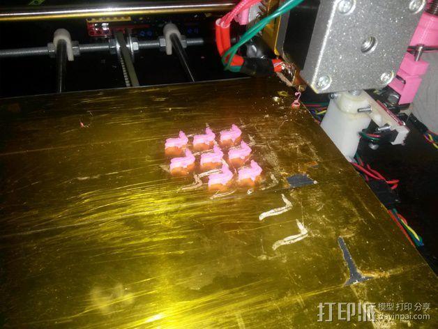 乐高火焰小部件 3D打印模型渲染图