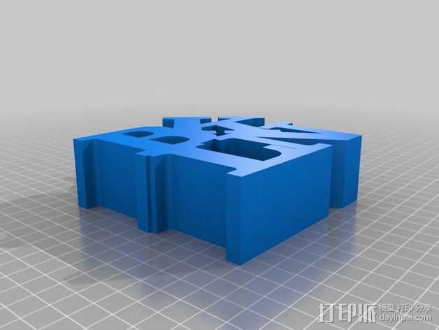 BLKN字母 3D打印模型渲染图
