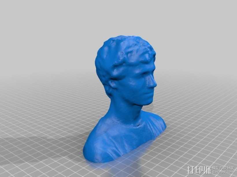 Lee 半身像雕塑 3D打印模型渲染图