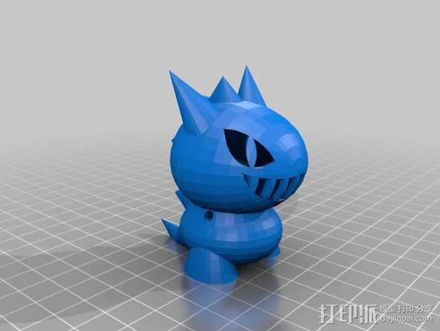 玩具恐龙 3D打印模型渲染图