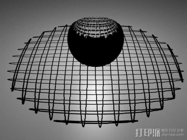 立体投影圈 3D打印模型渲染图
