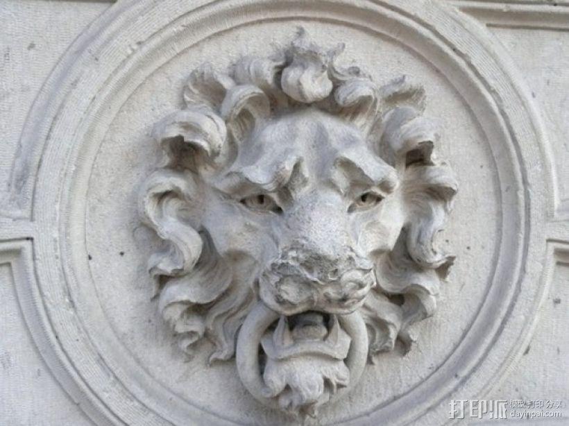 狮子头壁挂 3D打印模型渲染图