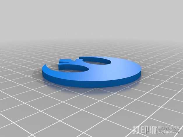 Rebeldes标志 3D打印模型渲染图