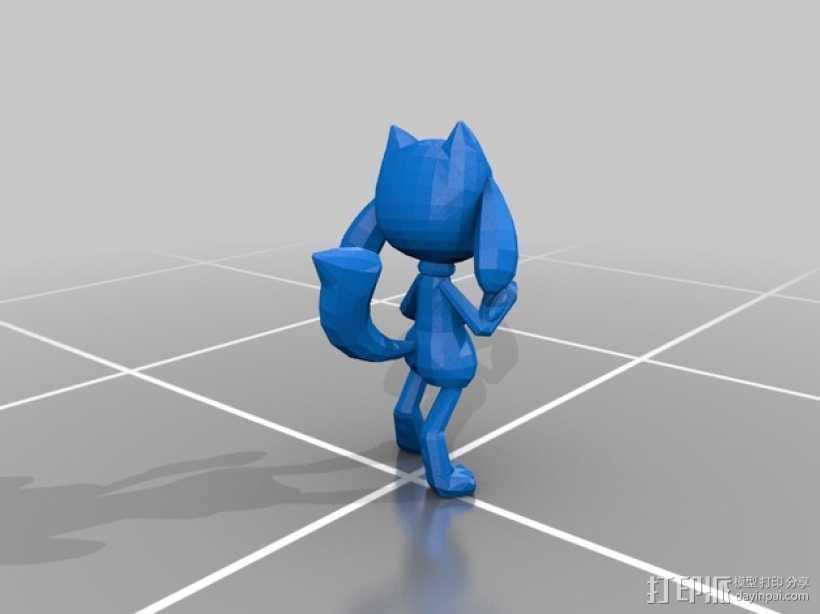 Riolu卢卡里欧 玩偶 3D打印模型渲染图