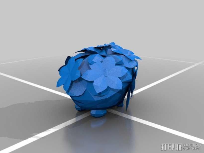 谢伊米 草刺猬 3D打印模型渲染图