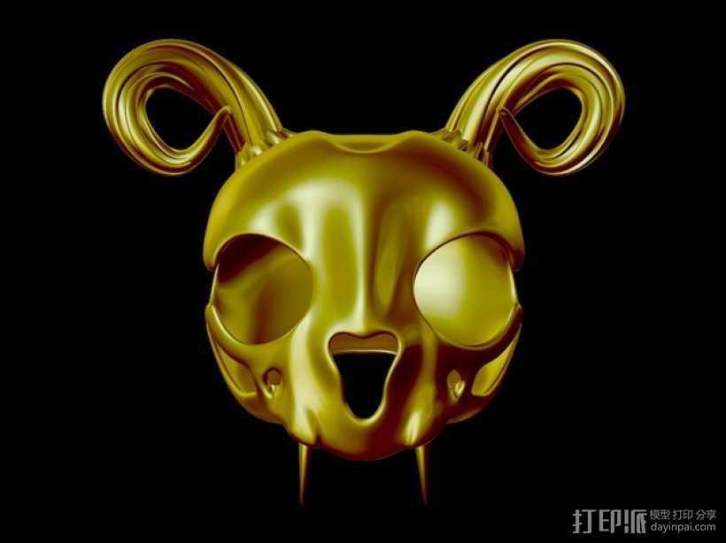 猫头骨模型 3D打印模型渲染图