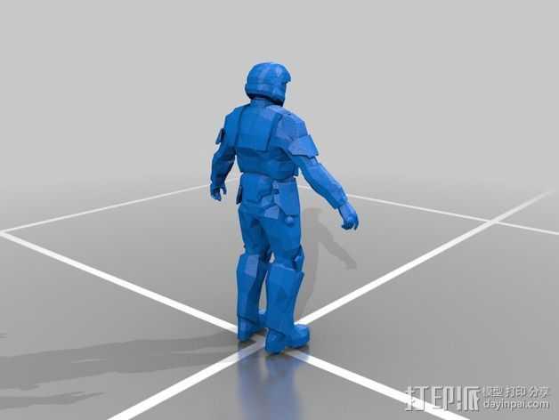 光晕3:地狱伞兵 3D打印模型渲染图