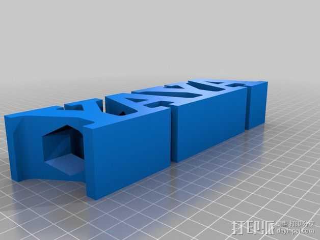 YAYA铅笔筒 3D打印模型渲染图