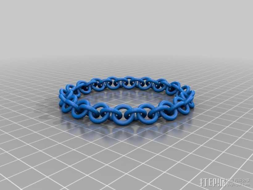 弹性锁链 3D打印模型渲染图