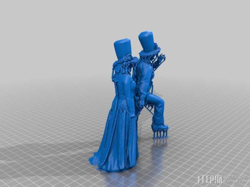 结婚 3D打印模型渲染图