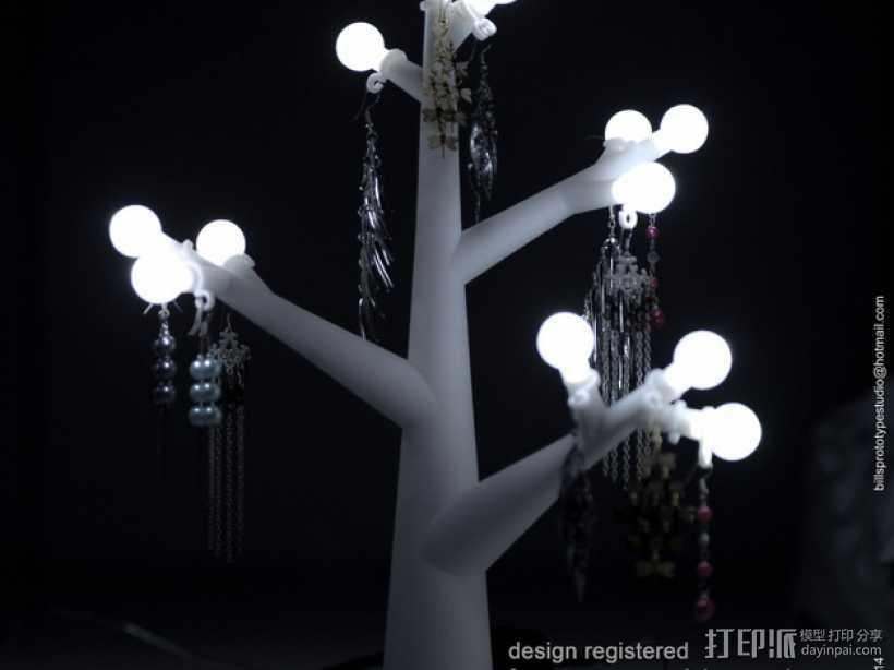 珠宝树灯 3D打印模型渲染图