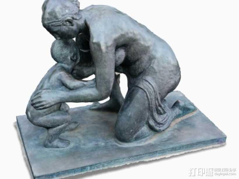 维也纳雕塑 3D打印模型渲染图