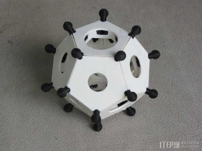 罗马十二面体 3D打印模型渲染图