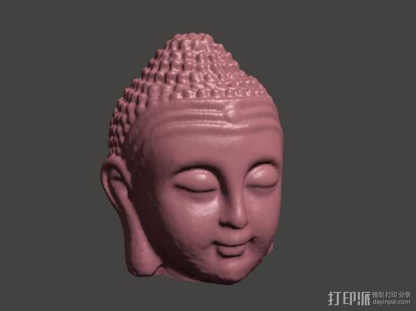 佛祖头像模型 3D打印模型渲染图