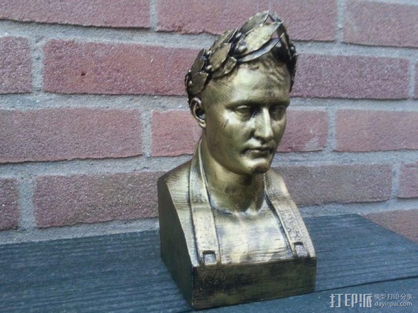 拿破仑半身像模型 3D打印模型渲染图