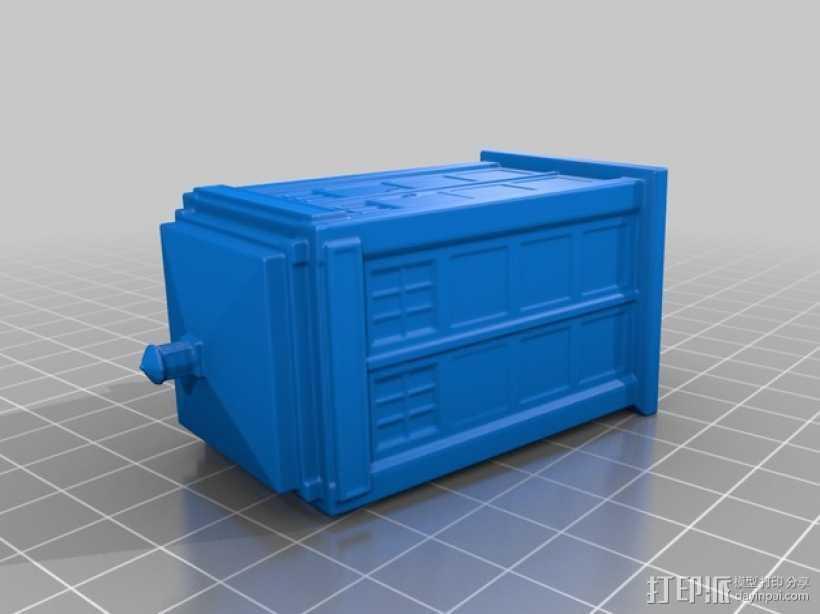 警察亭模型 3D打印模型渲染图