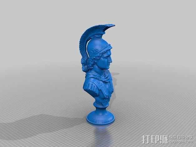 亚历山大大帝半身像 3D打印模型渲染图