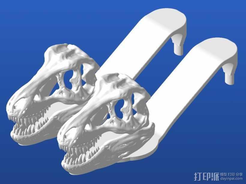 暴龙凉鞋 3D打印模型渲染图