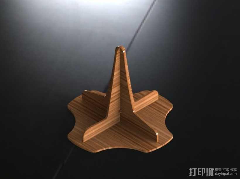 单簧管支架 3D打印模型渲染图