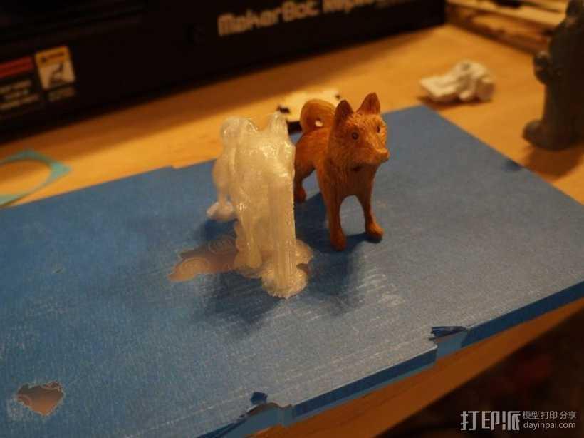 哈士奇犬 3D打印模型渲染图