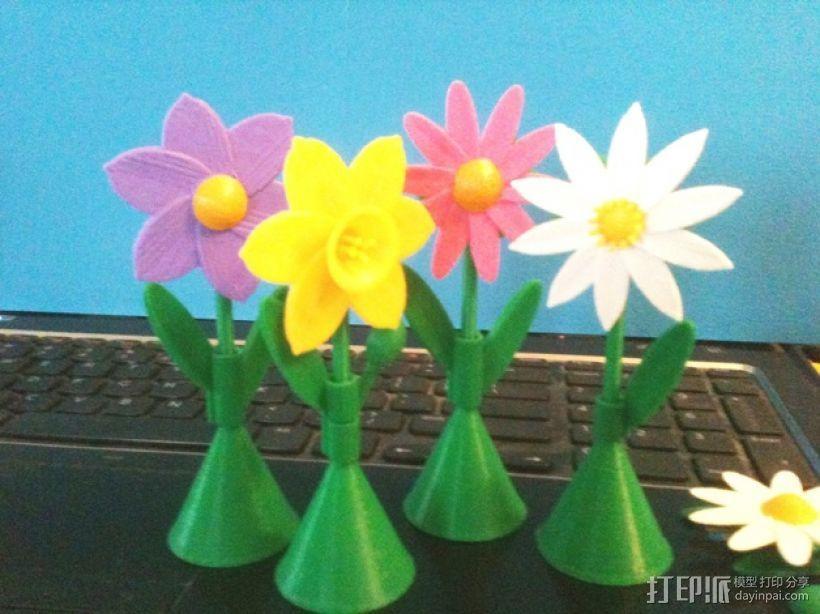 太阳花 彩色花 3D打印模型渲染图