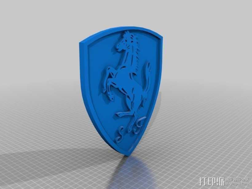 法拉利标志 3D打印模型渲染图