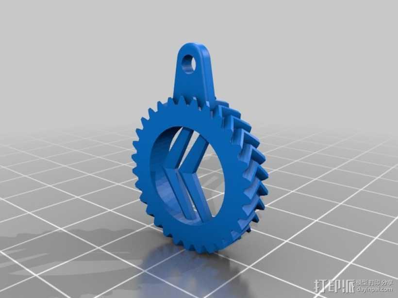 雪铁龙钥匙扣 3D打印模型渲染图