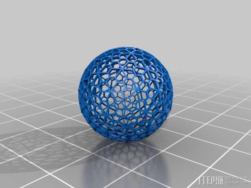 多面体球 3D打印模型渲染图