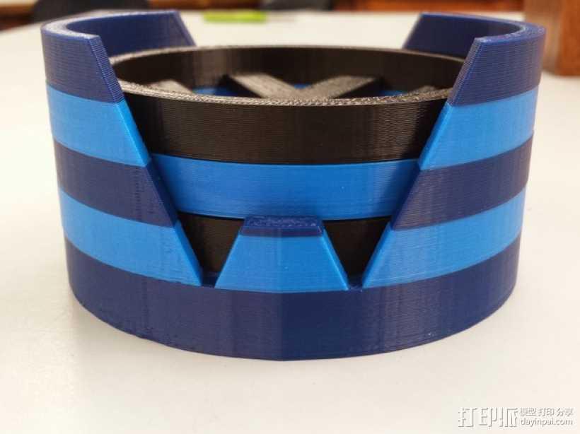 大众汽车标志 托盘 杯托 3D打印模型渲染图