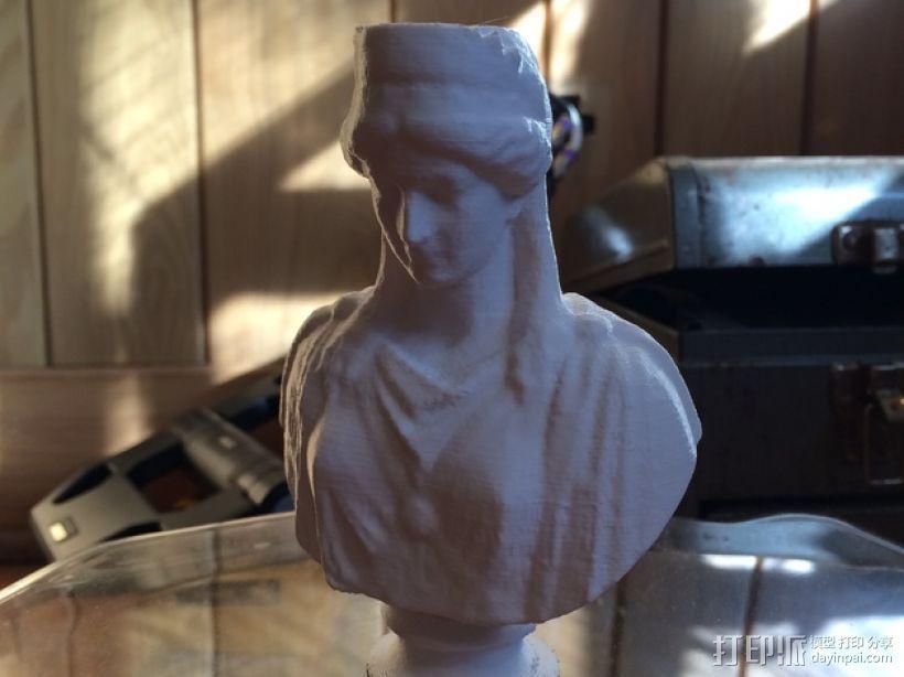 季诺碧亚半身像模型 3D打印模型渲染图