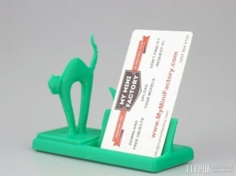 猫咪名片架 3D打印模型渲染图